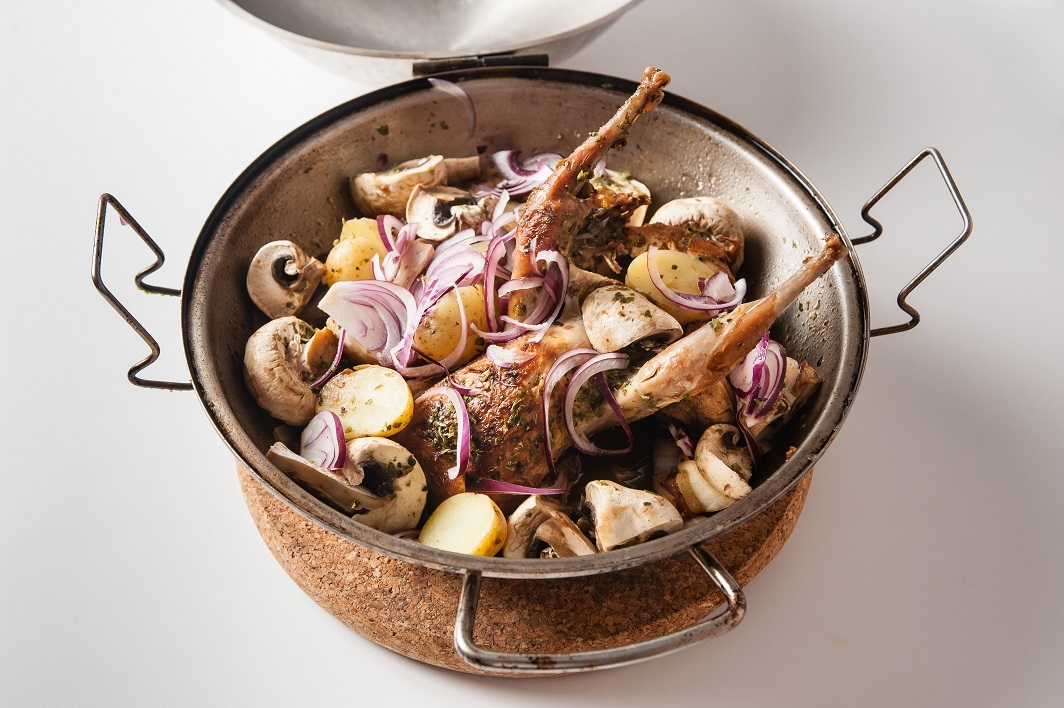 Partridge and wild mushroom cataplana